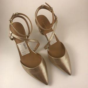 Calvin Klein Gold Strappy Heels